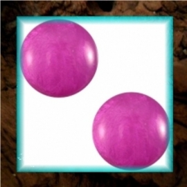 Cabochon Polaris Mosso Shiny 12 mm - Purple Orchid