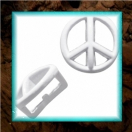 Chill schuiver Peace 9 mm - Pastel wit
