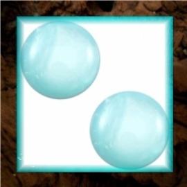 Cabochon Polaris Mosso Shiny 12 mm - Light Turquoise