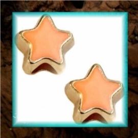 DQ metaal schuiver Ster goud - Oranje
