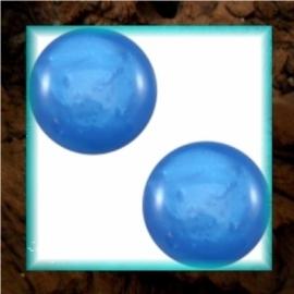 Cabochon Polaris Mosso Shiny 12 mm - Sapphire