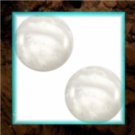 Cabochon Polaris Mosso Shiny 12 mm - Silver Shade