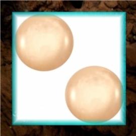 Cabochon Polaris Mosso Shiny 12 mm - Light Peach