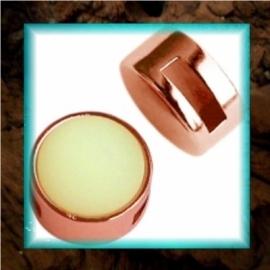 DQ Metaal Slider Setting (Cuoio) - 12 mm Rosé Goud