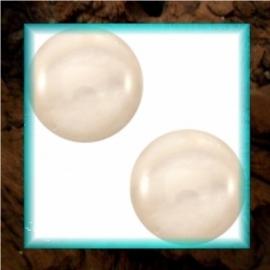 Cabochon Polaris Mosso Shiny 12 mm - Silk Beige