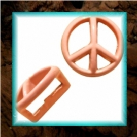 Chill schuiver Peace 9 mm - Pastel peach