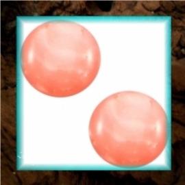 Cabochon Polaris Mosso Shiny 12 mm - Rose Peach