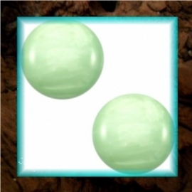 Cabochon Polaris Mosso Shiny 12 mm - Crysolite Green