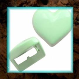 Chill schuiver Hartje 9 mm - Pastel ambrosia green