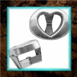 Chill schuiver Hartje open 8 x 10 mm - zilver