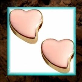 DQ metaal schuiver Hart goud - Light peach