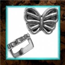 Chill schuiver Vlinder 9 x 12 mm - zilver