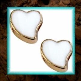 DQ metaal schuiver Hart goud - Wit