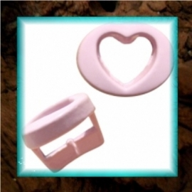 Chill schuiver Hartje open 10 mm - Pastel roze
