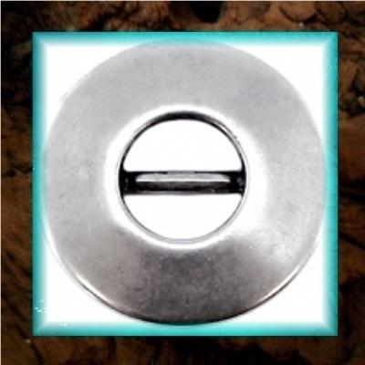 DQ metaal schuiver Cirkel open - Zilver