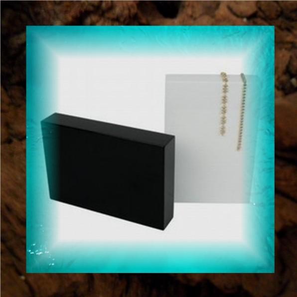 Casting Plateau Hoogglans hout zwart/wit