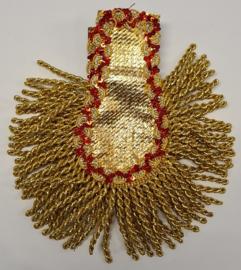 Epaulletten goud met glitterrand