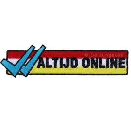 """""""altijd online"""" embleem"""