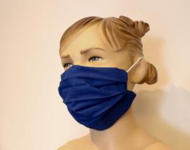 Wasbaar mondkapje Kobalt blauw XL