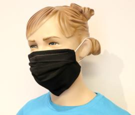 Wasbaar mondkapje Zwart XL