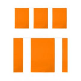 PVC vlaggenlijn rechthoek oranje 10m BRANDVEILIG