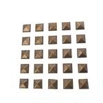 Pyramides plain koper 7 mm