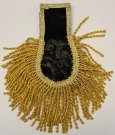 Epaulletten velours zwart met goud