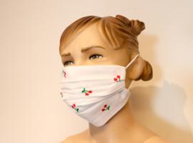 Wasbaar mondkapje kersen stof