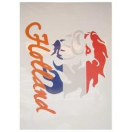 Raamsticker Holland leeuw r/w/b tekst