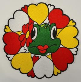 Oetel met bloem rondom hartjes rwg