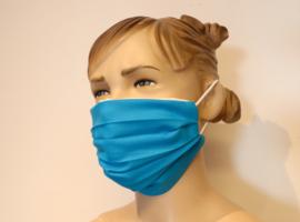 Wasbaar mondkapje Turkoise blauw
