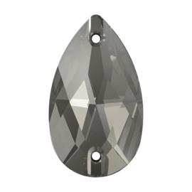 sew on glas druppel middelmaat Black Diamond