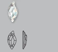 little S middel glas geslepen crystal
