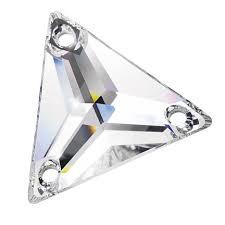 Sew on glas Crystal driehoek groot
