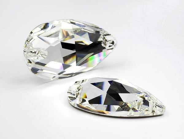 Druppel middel crystal glas geslepen