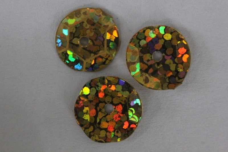Goud met glitter 8 mm