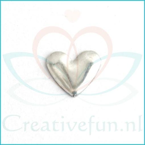 Heart 6*7 Silver (± 300 Stuks)