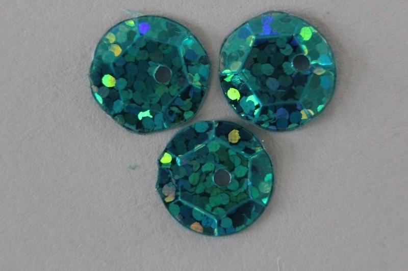 Capri blue met glitter 8 mm
