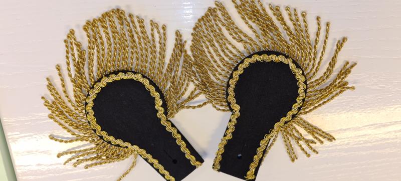 Epauletten zwart goud