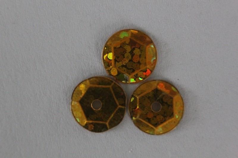 Goud met glitter 10 mm
