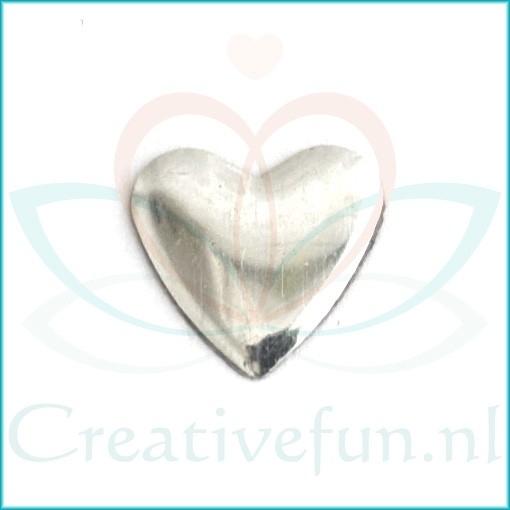 Heart 10*10 Silver (± 200 Stuks)