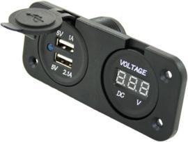 Dashboard | Voltmeter | 2 x USB | Osculatie