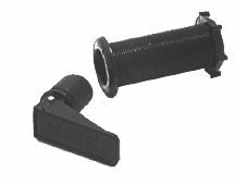 Lensplug Kunststof Hevel met Doorvoer - 23 mm