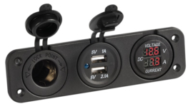 Dashboard | Volt- Ampère meter |  12 V | USB