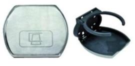 Bekerhouder | Plastic / Chrome | Wandmontage