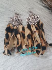 tijgerprint oorbellen