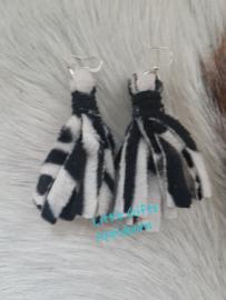 zebraprint oorbellen
