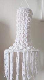 Gehaakte witte fuiklamp 60cm bij 22 cm