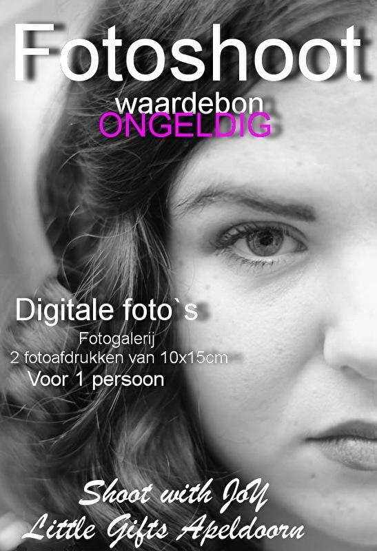 Waardebon 10 digitale foto`s, 4 fotoafdrukken en fotogalerij