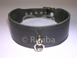 Rimba - Halsband 4 cm. breed, glad